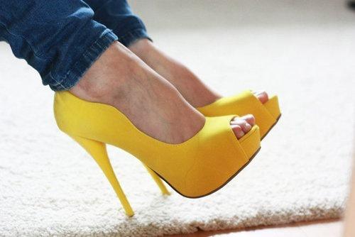 Желтые Туфли С Чем Носить
